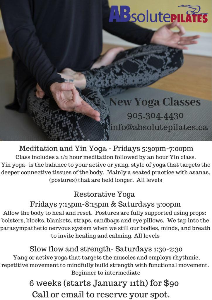new yoga classes